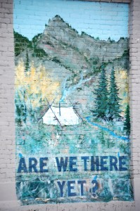 Are We There Yet? Mural near Tent and Awning Shop - Blackfoot, Idaho
