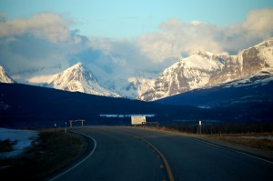 Heading to the mountains on Montana Hwy 464 near Duck Lake