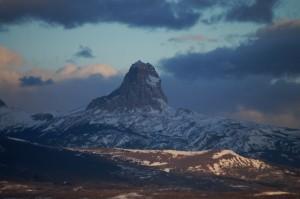 Chief Mountain at sunrise