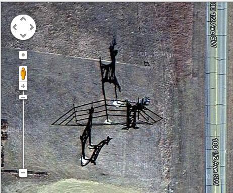 Deer Crossing as seen from Google Map Satellite