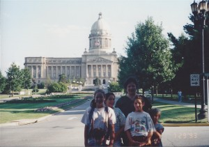 Family in Frankfort, KY, July 1993