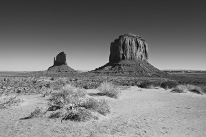 Old Black and White photo example - Monument Valley