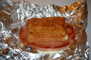 The final product - Baloney Sandwich Extraordinaire