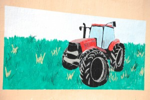 Old Tractor Mural - Chester, Montana