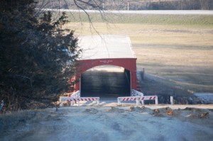 Holliwell Covered Bridge in Scott, Iowa