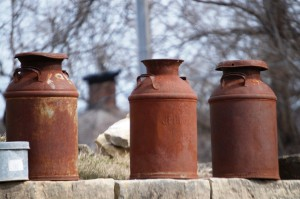 Old Milk Cans - Le Claire, IA