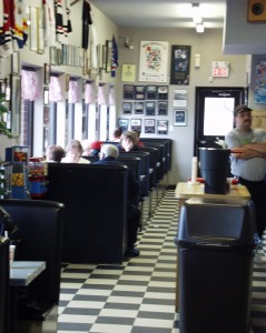 Checkerboard Tile and Booths
