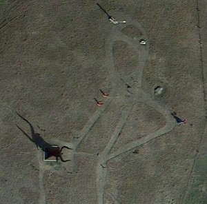 Porter Sculpture Park as seen from a Google Satellite image