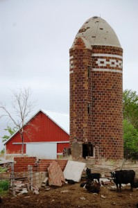Decorative Glazed Block Silo near Viborg, SD
