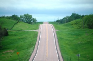 The road goes on forever - US 18 in southern South Dakota
