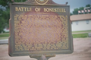 Battle of Bonesteel Commenmorative Sign