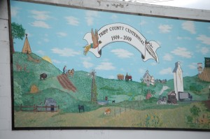Centennial Mural for Tripp County in Winner