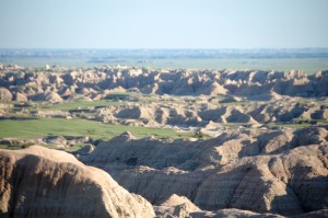 The Badlands as seen from Sage Creek Rim Road