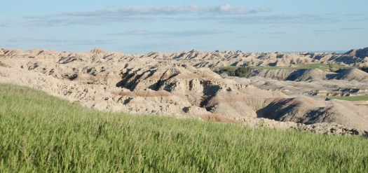 Badlands and Grasslands in Badlands N.P.