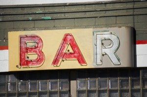Old bar sign by the old Texaco Station