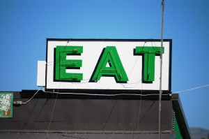 EAT sign at Pickle's Place in Arco, ID