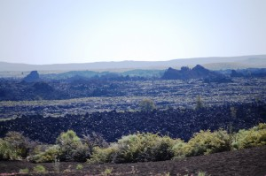 Expansive views of the lava flows