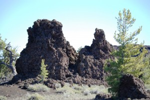 Lava monoliths in the Devil's Orchard section of the park