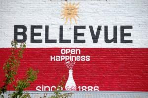 Coke Ad on Bellevue Wall
