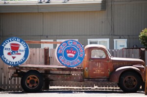 Old Truck with Old Gasoline Ads