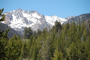 Sawtooth Mountains heading north in ID 75