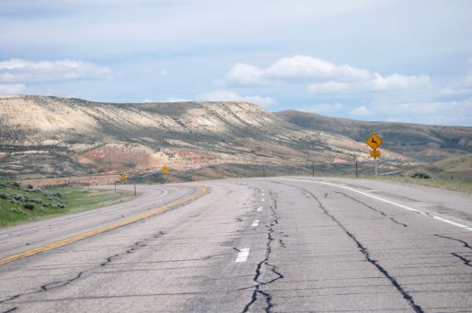 US 30 heading east to Kemmerer, WY