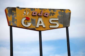 Old Neon Gas Sign near Baggs Rd., Wyoming