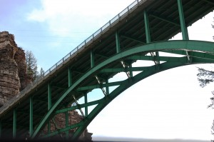 A view of Green Bridge from below