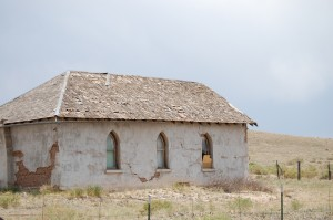 An old school south of Gardner, Colorado on CO Hwy 69