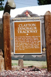 Clayton Dinosaur Trackway sign
