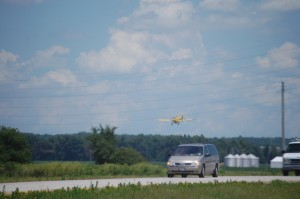 Low flying plane near Dexter, Missouri (aerial spraying)