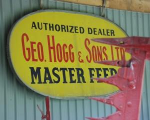 Old Sign in Beachville Museum - Beachville, Ontario