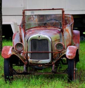 Old car in Blue, Oklahoma