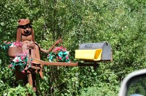 Mailbox for Jurustic Park in Marshfield, Wisconsin