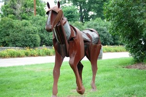 Scrap Metal Horse at Woodford Reserve near Versailles, Kentucky