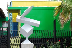 Office is in a Bright Green Train Car - Jim Hootman