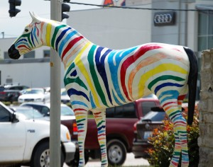 This colorful Zebra is in Hamburg Shopping area, but is not on the list