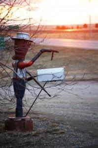 Scrap Metal Guy Mailbox - Dunkirk, Montana