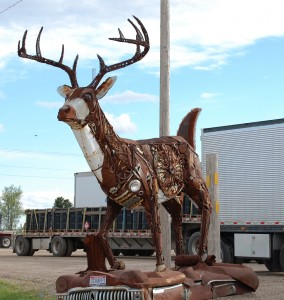 Scrap metal buck made from car parts - Kadoka, South Dakota