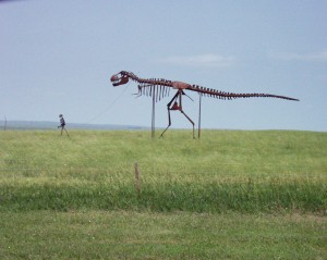 Skeleton Walking Dinosaur near Murdo, South Dakota