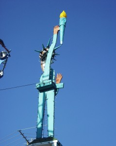 Scrap Metal Lady Liberty - Hamtamck, Michigan