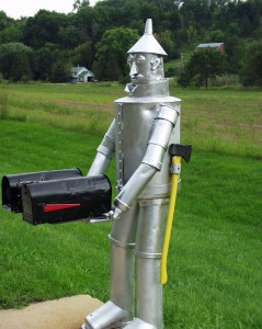 Tin Man Mailbox near Mt. Horeb, Wisconsin