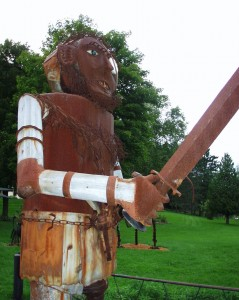 Big Scrap Metal Soldier - near Mt. Horeb, Wisconsin