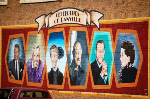 Celebrities of Danville Wall Mural in downtown Danville, IL