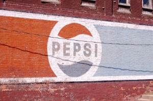 Old Pepsi Wall Advertisement - Eldon, IA