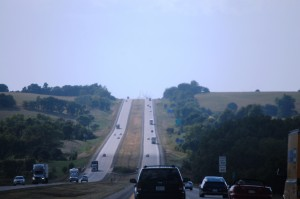 Rolling Hills of I-80 north of Council Bluffs, IA