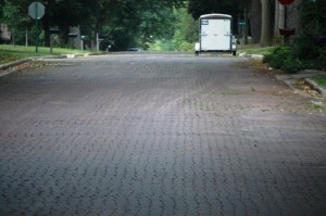 Many of the Nebraska City streets are paved with brick