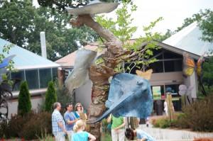 Sculpture outside the Henry Doorly Zoo's aquarium exhibit