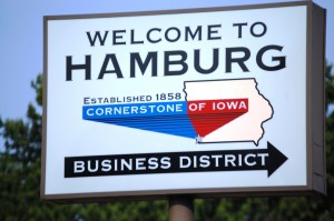 Welcome to Hamburg, Iowa