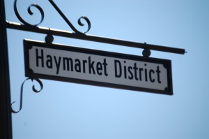 Haymarket District Sign - Council Bluffs